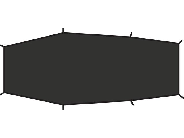 Fjällräven Lite 2 Suelo Tienda, negro